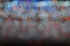 Bokeh de la luz del bulbo en evento del festival del partido Imagen de archivo libre de regalías