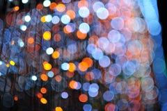 Bokeh de la luz del bulbo en evento del festival del partido Foto de archivo libre de regalías