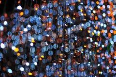 Bokeh de la luz del bulbo en evento del festival del partido Fotografía de archivo libre de regalías
