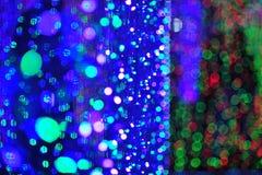 Bokeh de la luz del bulbo en evento del festival del partido Fotos de archivo
