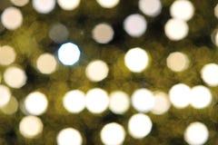 Bokeh de la luz del bulbo en evento del festival del partido Imagen de archivo