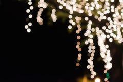 Bokeh de la luz en árbol Foto de archivo libre de regalías
