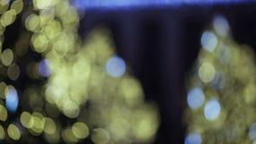 Bokeh de la Navidad almacen de metraje de vídeo