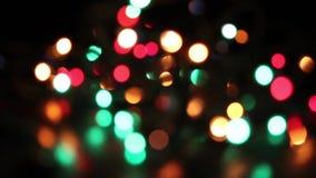 Bokeh de las luces del centelleo almacen de video
