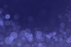 Bokeh de miracle avec le fond bleu profond de gradient Images stock