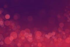 Bokeh de miracle avec le fond rose de gradient Images libres de droits