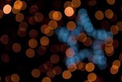 Bokeh de Noël Images libres de droits