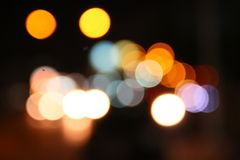 Bokeh de nuit Photo stock