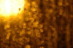 Bokeh de oro Imágenes de archivo libres de regalías