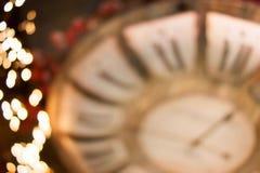 Bokeh de oro del fondo de las luces de la Navidad Foto de archivo