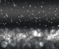 Bokeh de plata negro del color Foto de archivo libre de regalías