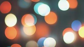 Bokeh de scintillement coloré et lumières clignotantes photo libre de droits