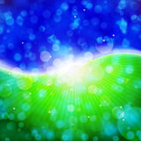Bokeh de vert bleu Images stock