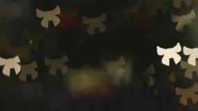 Bokeh in de vorm van Boog verlicht keurig Atmosfeer viering stock footage