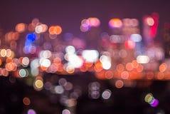 Bokeh and defocus of cityscape at night. Bangkok Thailand Royalty Free Stock Photo
