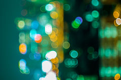Bokeh and defocus of cityscape at night Stock Images
