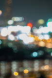 Bokeh and defocus of cityscape at night Stock Photos