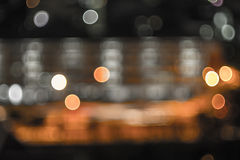 Bokeh and defocus of cityscape at night Royalty Free Stock Photo