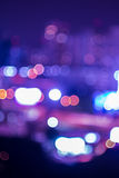 Bokeh and defocus of cityscape at night Royalty Free Stock Photography