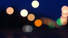 Bokeh, Defocus light in Road stock footage