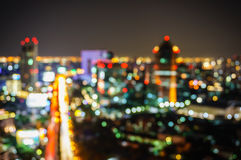 Bokeh of defocused cityscape lights Royalty Free Stock Image