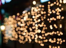 Bokeh Defocused de la falta de definición del festival ligero en la noche Fotografía de archivo
