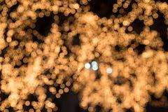 Bokeh Defocused de la falta de definición del festival ligero en la noche Fotos de archivo