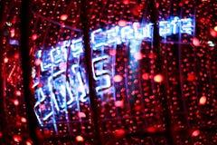 Bokeh Defocused de las luces (Año Nuevo 2015 de la celebración) Foto de archivo