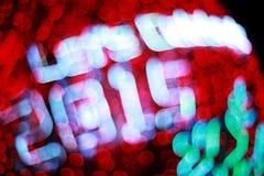 Bokeh Defocused delle luci (nuovo anno 2015 di celebrazione) Immagine Stock Libera da Diritti