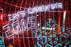 Bokeh Defocused delle luci (nuovo anno 2015 di celebrazione) Fotografia Stock
