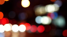 Bokeh dei semafori di notte video d archivio