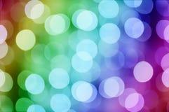 Bokeh del arco iris de la Navidad Fotografía de archivo libre de regalías