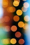 Bokeh del arco iris de la Navidad Fotografía de archivo