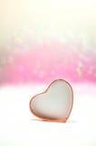 Bokeh del corazón Imagenes de archivo