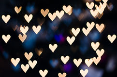 Bokeh del corazón - fondo del día de tarjeta del día de San Valentín Fotos de archivo