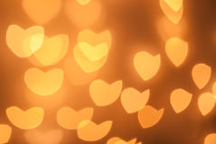 Bokeh del cuore Fotografia Stock