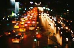Bokeh del estilo de la vida nocturna Imagen de archivo libre de regalías