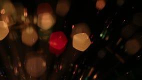 Bokeh del fondo de la luz de Defocus almacen de video