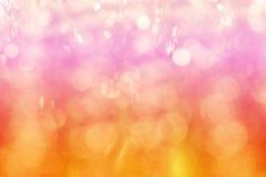 Bokeh del fondo, della rosa arancione e di rosso dell'estratto del bokeh di Multicolors immagini stock libere da diritti