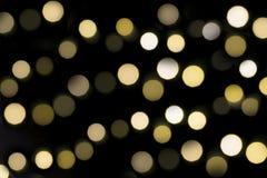 Bokeh del fondo delle luci di Natale Fotografia Stock