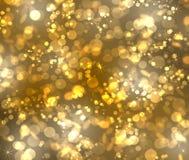 Bokeh del oro Imagen de archivo