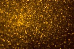 Bokeh del oro, fondo abstracto creado por las luces de neón imagenes de archivo