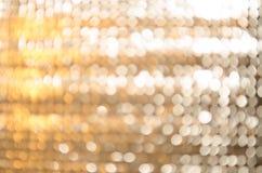 Bokeh del oro y de la plata Imagen de archivo libre de regalías