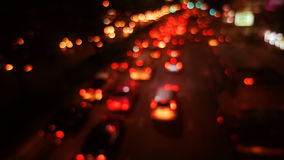 Bokeh del tráfico almacen de metraje de vídeo