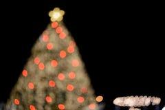 Bokeh dell'albero di X'mas fotografie stock libere da diritti