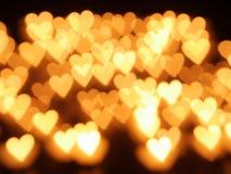 Bokeh della candela del cuore Immagini Stock Libere da Diritti