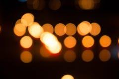 Bokeh della luce delle candele Immagini Stock