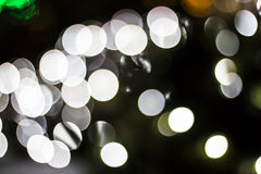 Bokeh delle luci stagionali Fotografie Stock Libere da Diritti