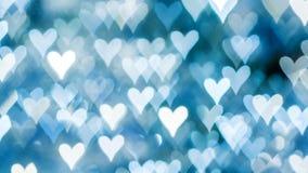 Bokeh delle luci su fondo defocused sotto forma di cuore Fotografie Stock