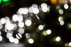 Bokeh des lumières saisonnières Photographie stock libre de droits
